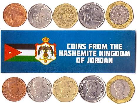 5 Monedas Diferentes - Moneda extranjera Jordana Antigua y Coleccionable para coleccionar Libros - Conjuntos únicos de Dinero Mundial - Regalos para coleccionistas: Amazon.es: Juguetes y juegos