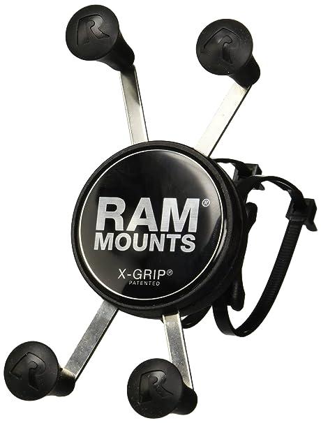 7245a5b28ea2b8 Amazon.com: RAM Mounts RAM EZ ON/OFF Handlebar Mount with Universal X-Grip  Phone Holder: Electronics