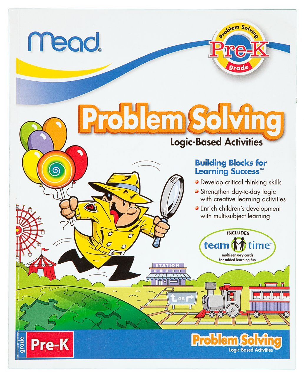 Workbooks pre k workbook : Amazon.com : Mead Pre-K Problem Solving Workbook, 10 x 8-Inches ...