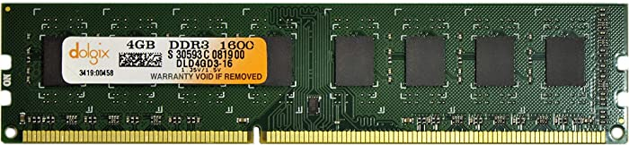 DOLGIX 4GB DDR3 1600MHz PC3-12800 240-Pin Desktop Memory RAM Module Upgrade