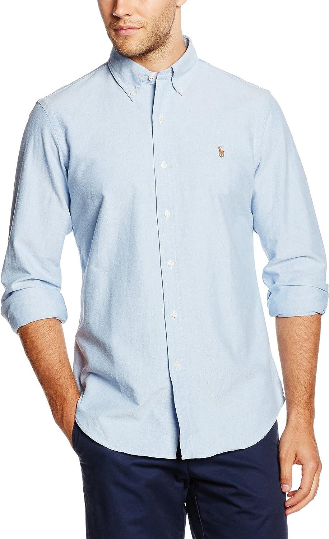 Polo Ralph Lauren Core FIT BD PPC Camisa, Blau (BSR Blue B4060 ...