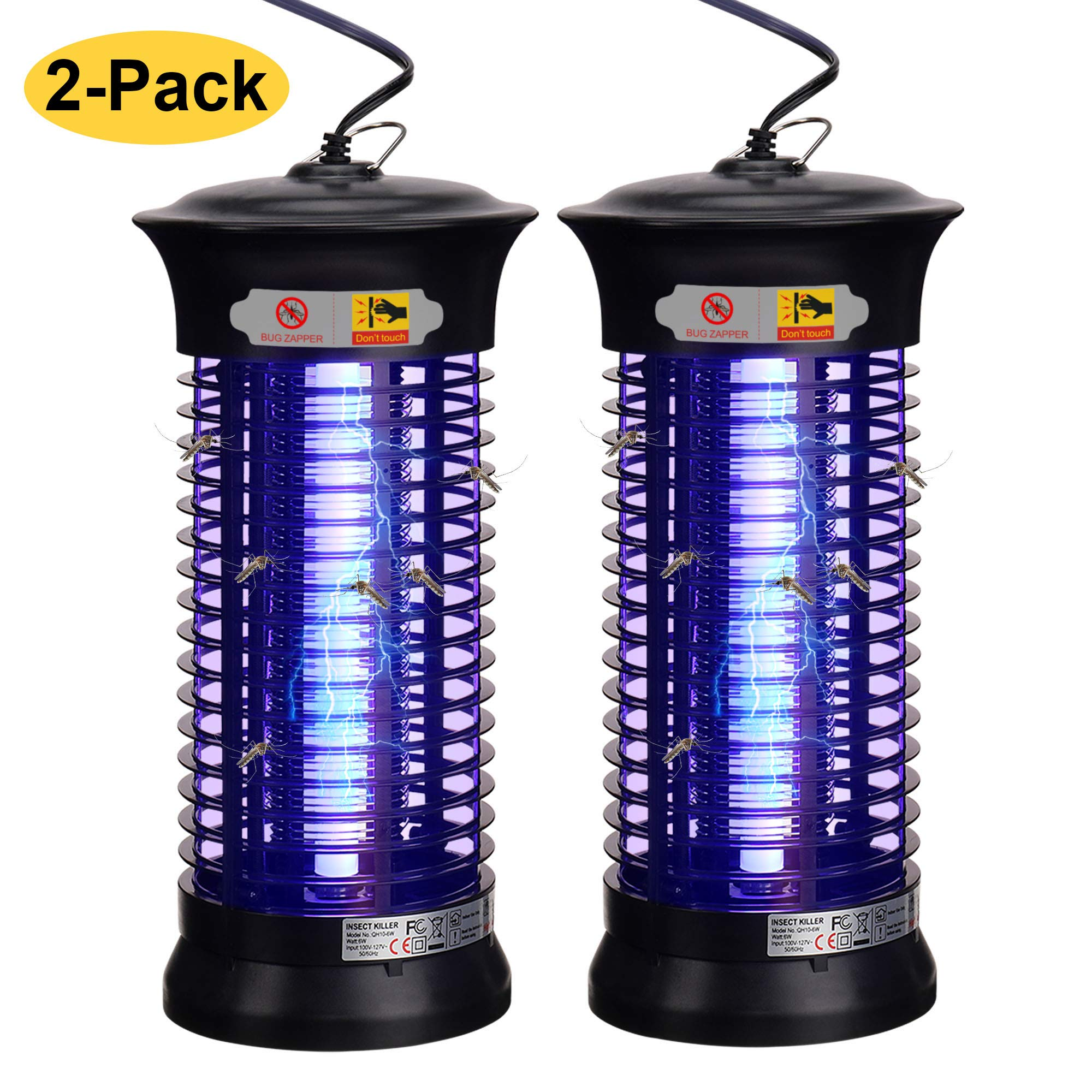 Dormily Bug Zapper Indoor, Electric Mosquito Killer Lamp Insect Trap Fruit Fly Zapper for Home Kitchen | Bedroom | Office Mosquito Trap Plug in by Dormily