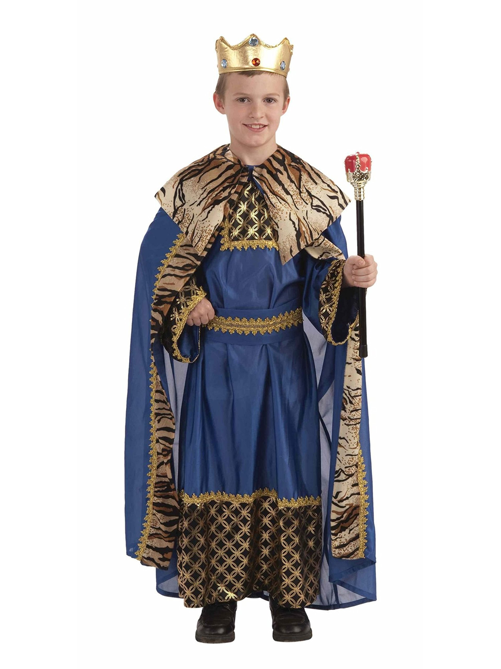 Biblical King of the Kingdom Child Costume Size 8-10 Medium