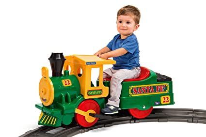 Peg Perego Ride On Toys >> Amazon Com Peg Perego Santa Fe Train Ride On Toys Games