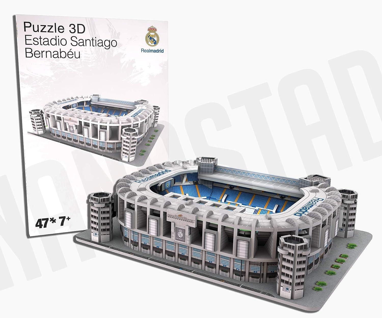 REAL MADRID- Nanostad, Puzzle 3D Estadio Santiago Bernabéu Mini (34009), Multicolor (KICK OFF GAMES 1): Amazon.es: Juguetes y juegos