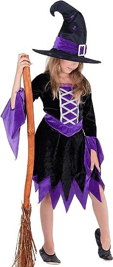 Bruja hechicera – Completo disfraz de bruja para niños, Halloween ...
