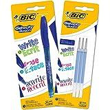 Bic Gelocity Illusion Penne Inchiostro Gel Cancellabile, Blu, Confezione da 1 Penna e 3 Refill