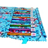 Pack of 12 Coloured 2mm-9mm Aluminium Afghan TUNISIAN Crochet Hooks Rainbow Colors Colorful hooks in a blue bag