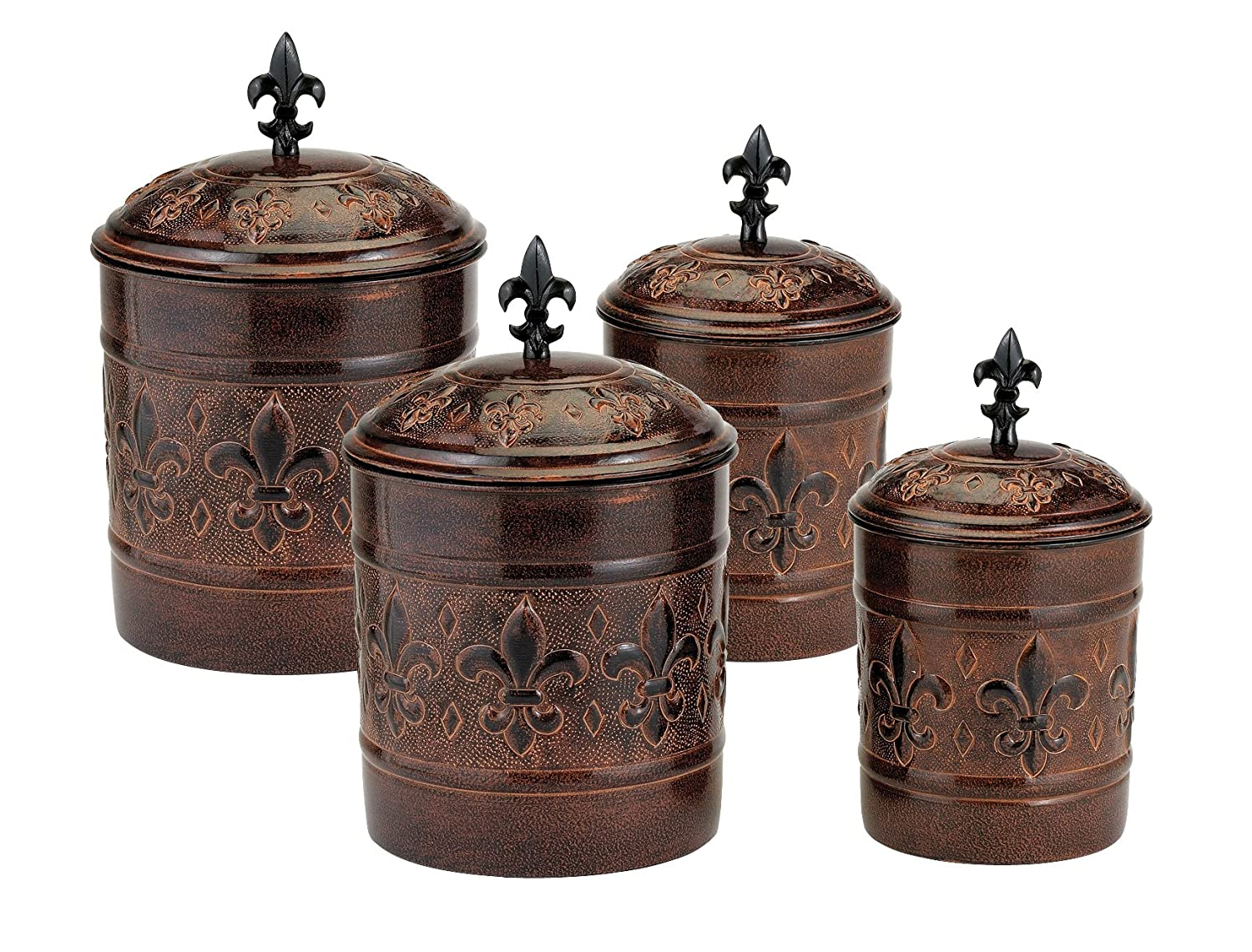 Old Dutch Versailles Canisters - Set of 4