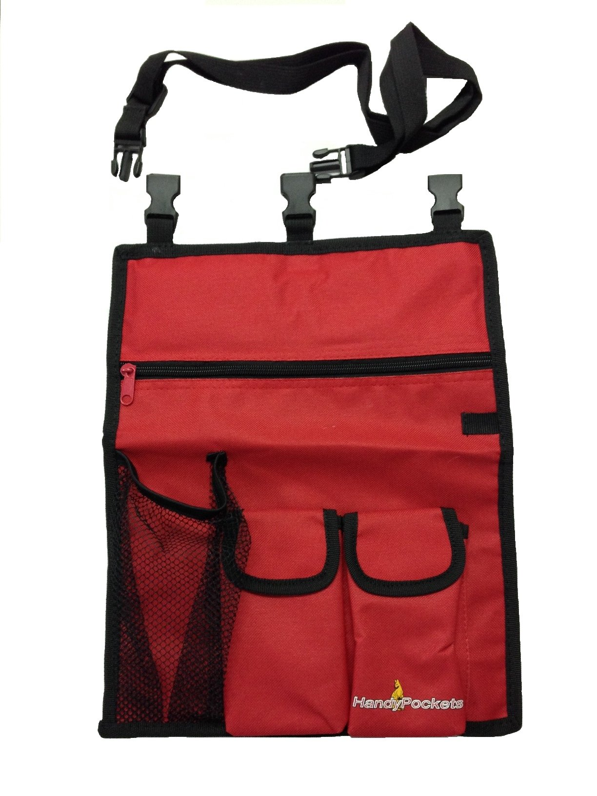 HandyPockets SidePocket Mobility Scooter Organizer and Tote Bag Red by HandyPockets