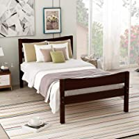 Tenozek Headboard Wooden Slat Support Wood Platform Bed