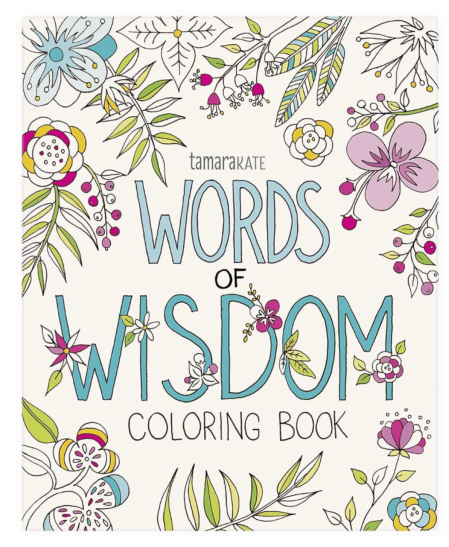 Eccolo World Traveler Tamara Kate Adult Coloring Book, Words of Wisdom  (CB501)