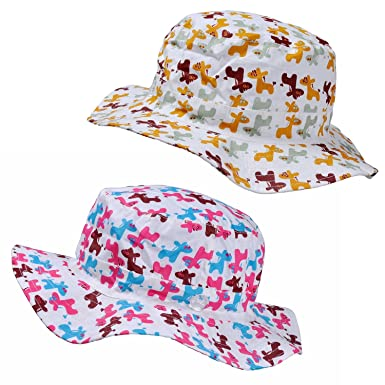 79d9e5099c3 RORKEE Children s Sun Protection Summer Bucket Hat - Pack of 2 (Hat  Circumference 19.7 quot