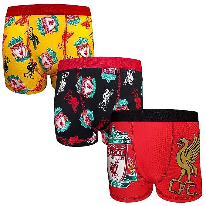 Liverpool FC - Pack de 3 calzoncillos oficiales de estilo bóxer - Para niños - Con