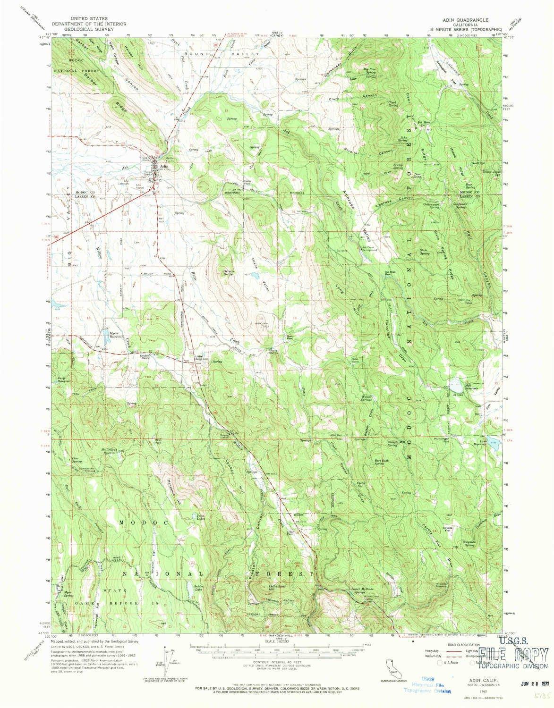 Amazon.com: YellowMaps Adin CA topo map, 1:62500 Scale, 15 X 15