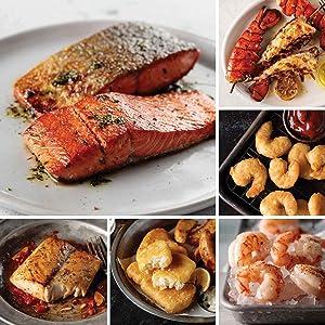 Seafood Lover's Sampler from Omaha Steaks (Wild Alaskan Skin-On Sockeye Salmon, Wild Cobia Fillets, Pub-Style Cod, Wild Argentinian Red Shrimp, Redhook Ale Beer-Battered Shrimp, and more)