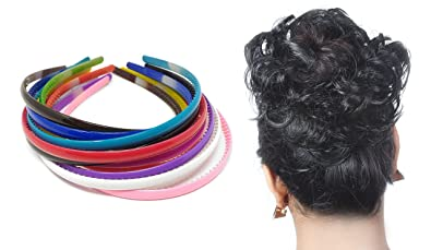 Foreignholics Women s Neon Daily Use Plane Plastic Hair Bands - Set of 12 ac42da20dca