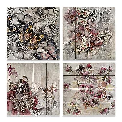 Set de cuadros decorativos vintage floral.: Amazon.com.mx: Hogar y ...
