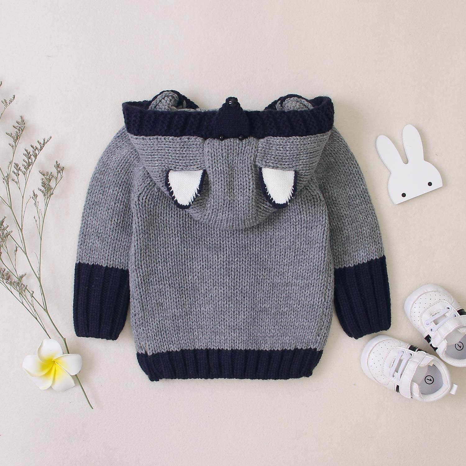 Unisex Baby Cardigan Sweater Cartoon Hoodies Long Sleeve Coats Baby Girl Boy Antumn Winter Clothes Outfit