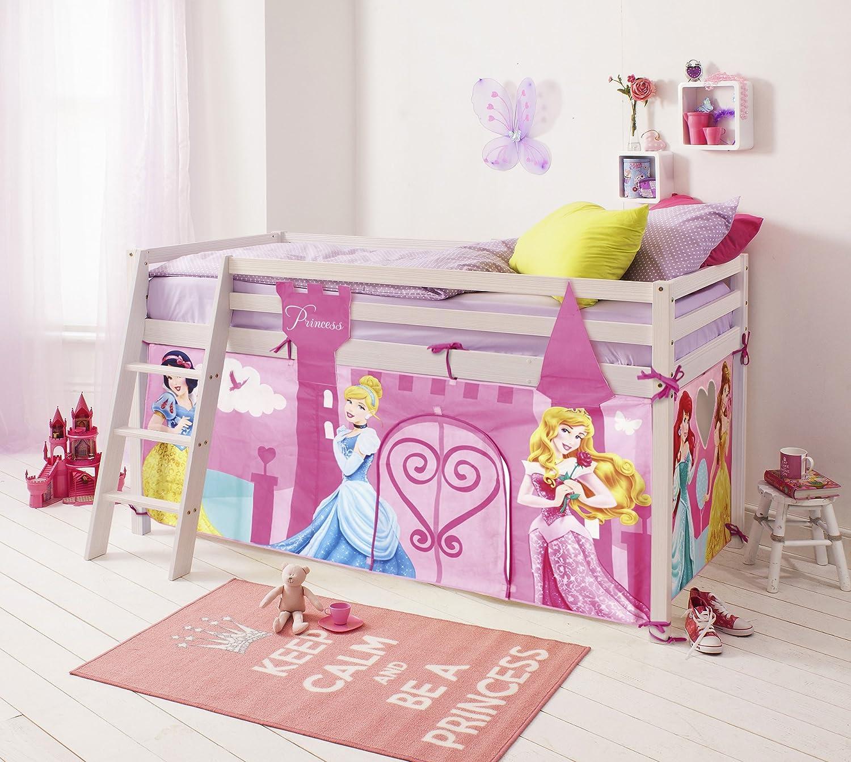 lit cabane avec tente princesses disney