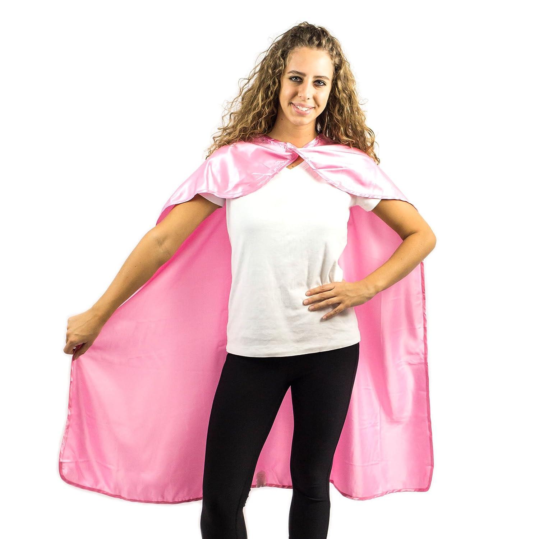 Everfan Adult Superhero Cape | Superhero Capes For Adults | Satin Costume Cape Magenta) 120203-$P