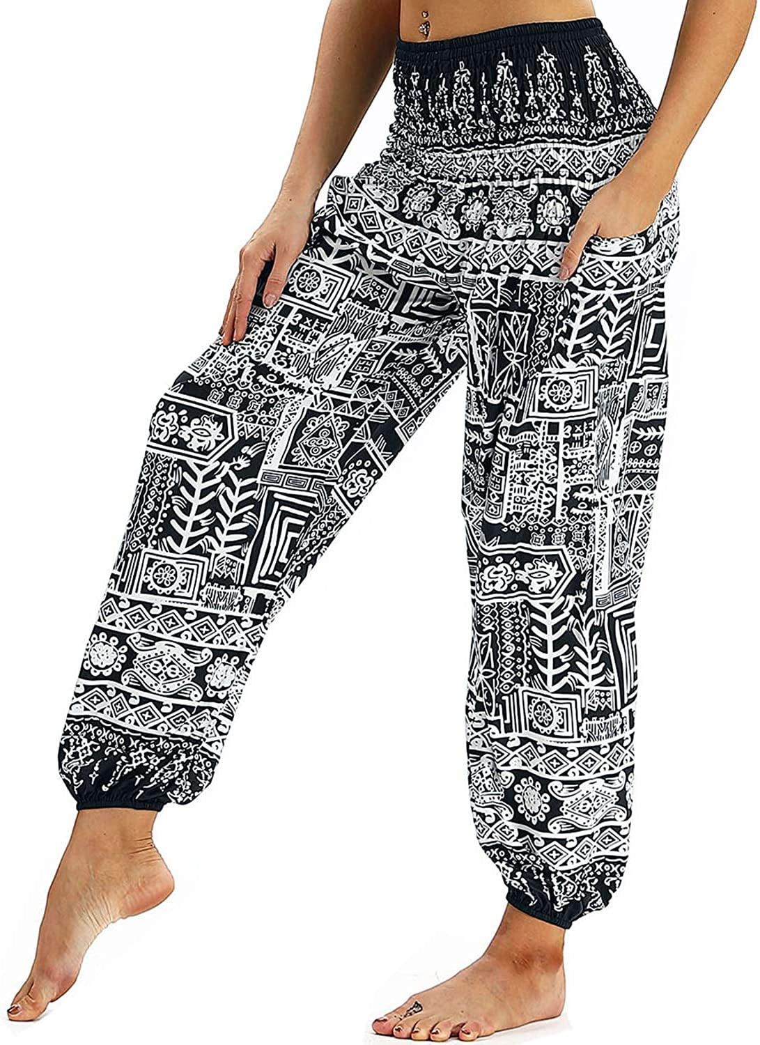 Hippie Bell Bottom Pants in Cotton Patchwork Wide Leg Gypsy Pants