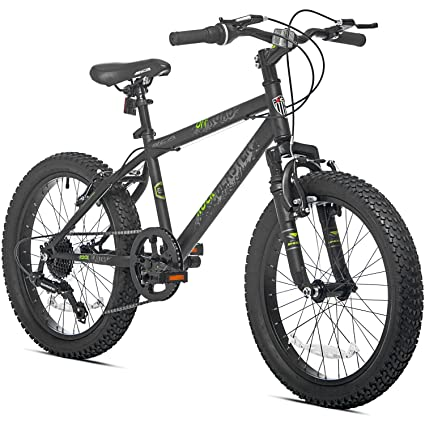 Amazon.com : 7 Speed Fat Tire Steel Frame Hardtail Kids Mountain ...