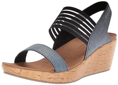 752d09d93732f Skechers Women's Beverlee - Smitten Kitten Wedge Sandal