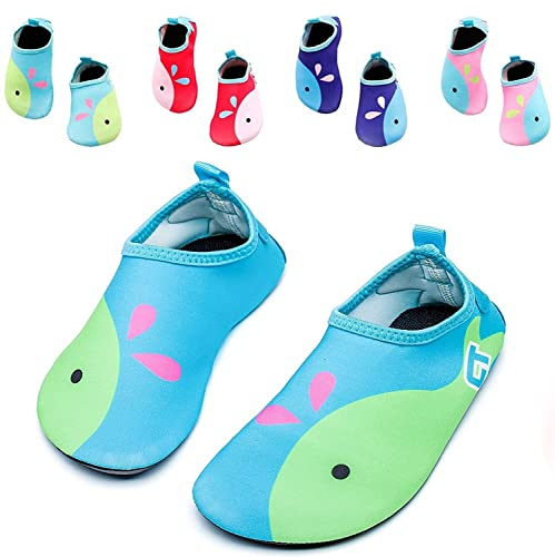 Boys Girls Water Shoes Mutifunctional Barefoot Quick Dry Aqua Shoes For Beach Pool Eercise (Toddler/Little Kid/Big Kid)