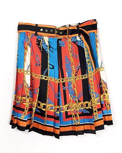 7621f4328 Zara Women's Chain Print Pleated Skirt 2011/610: Amazon.co.uk: Clothing