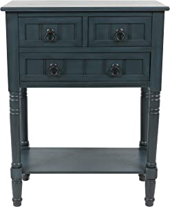 Decor Therapy Westerman Simplify 3-Drawer Console Table Navy Painted