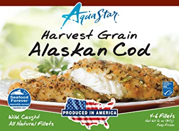 Aqua Star, Harvest Grain Alaskan Cod, 12 oz (Frozen)