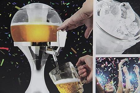 Dispensador de cerveza con grifo y depósito extraíble para hielo.,Compuesto por depósitos: Depósito