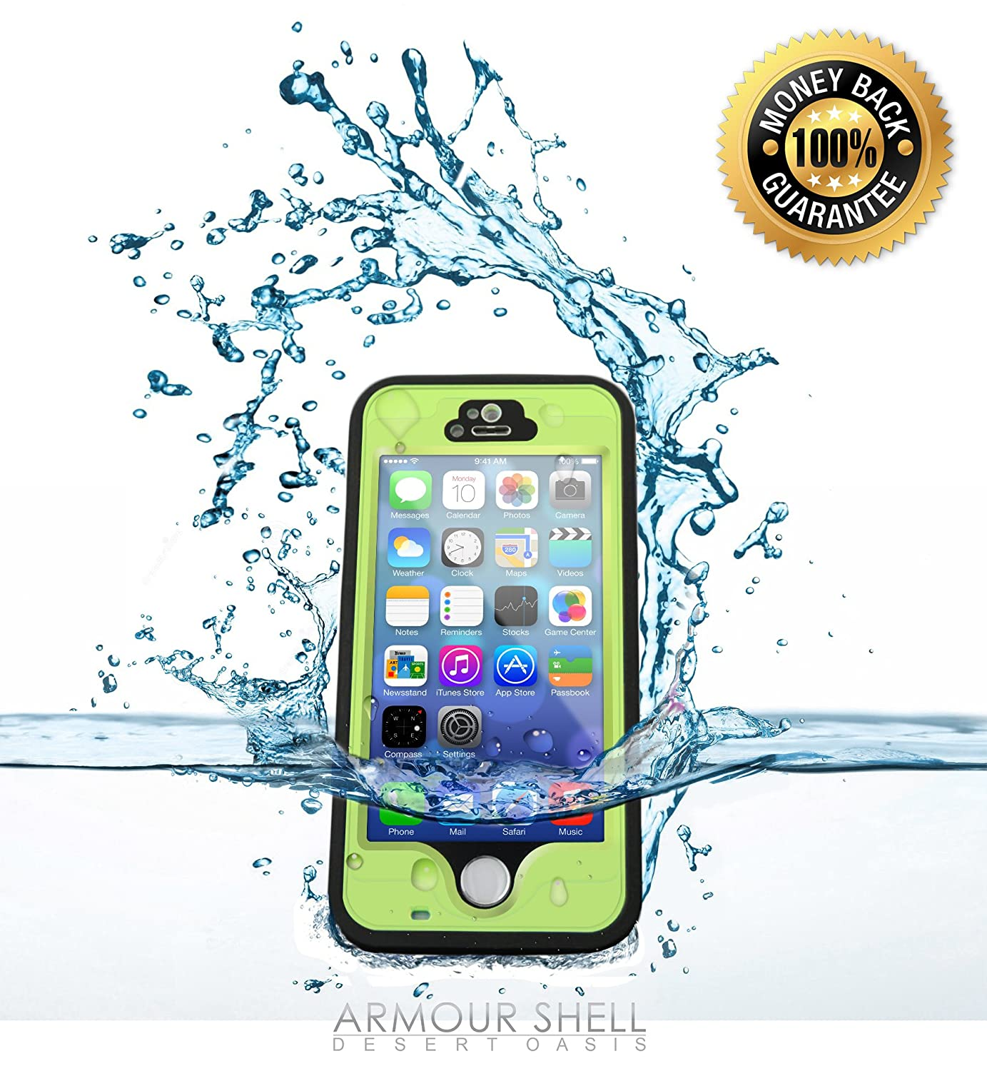 Amazon.com: # 1 Mejor Iphone 5s Funda impermeable, protector ...