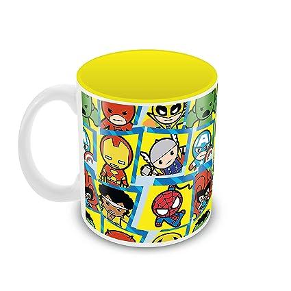 Marvel Kavaii' Mug350ml 'characters Round Ceramic f67gybY