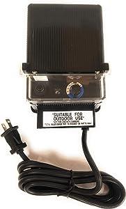 150W Watt 120V Volt AC to 12V Volt LED & Halogen - Low Voltage Landscape Lighting Indoor/Outdoor Weatherproof Transformer Electric Power Pack with Photocell Sensor - Black Case