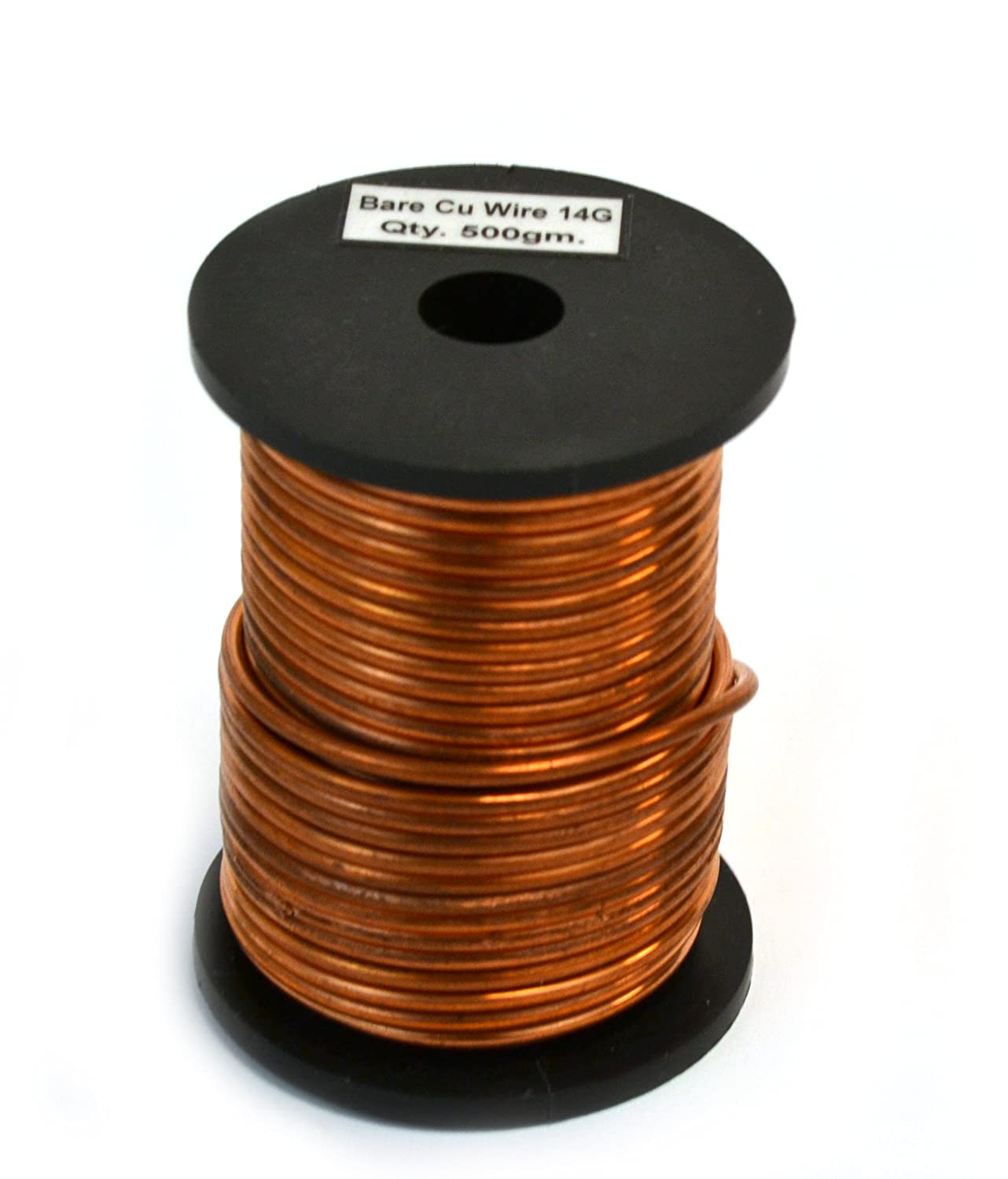 Amazon.com: Eisco Labs Copper Wire, Bare, 50ft Reel, 14 SWG (12 AWG ...