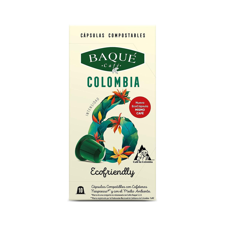 Cafés Baqué Cápsulas Compostables compatibles con Nespresso Colombia: Amazon.es: Alimentación y bebidas