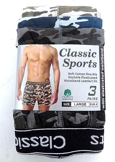 Pack of 10 Sizes 2-15 Years Cotton Army Camouflage Underwear LOREZA /® Boys Boxer Shorts