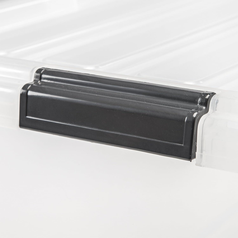IRIS  Weathertight Storage Box Clear 44 Quart Buckle Down