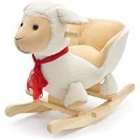 Pink Papaya Schaukeltier Schaf Lotta Kinder und Baby Schaukelpferd, Schaukelstuhl für Kinder, Sitzhöhe ca. 30 cm