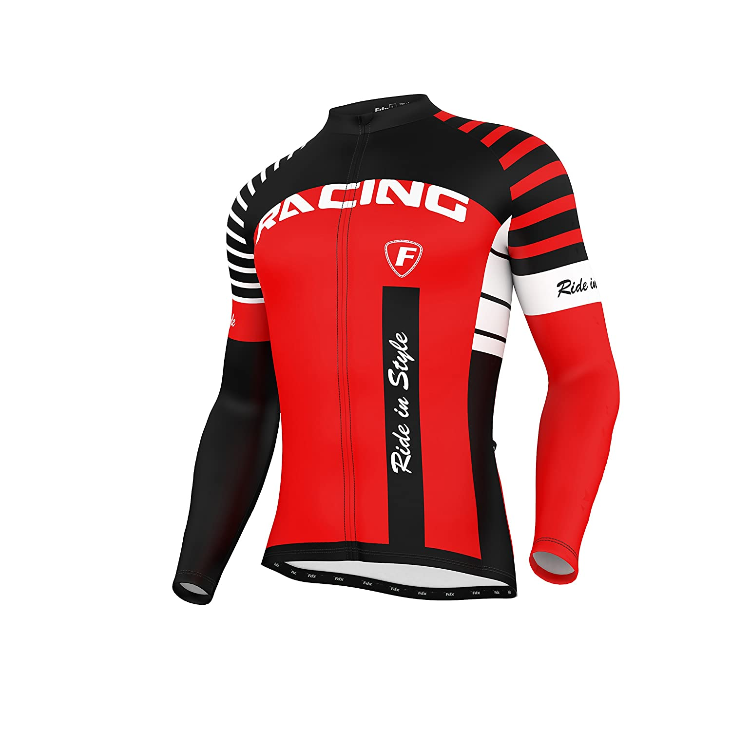 Cycling Tights Pants  Set FDX Mens Blaze Cycling Jersey Cold Wear Thermal Top