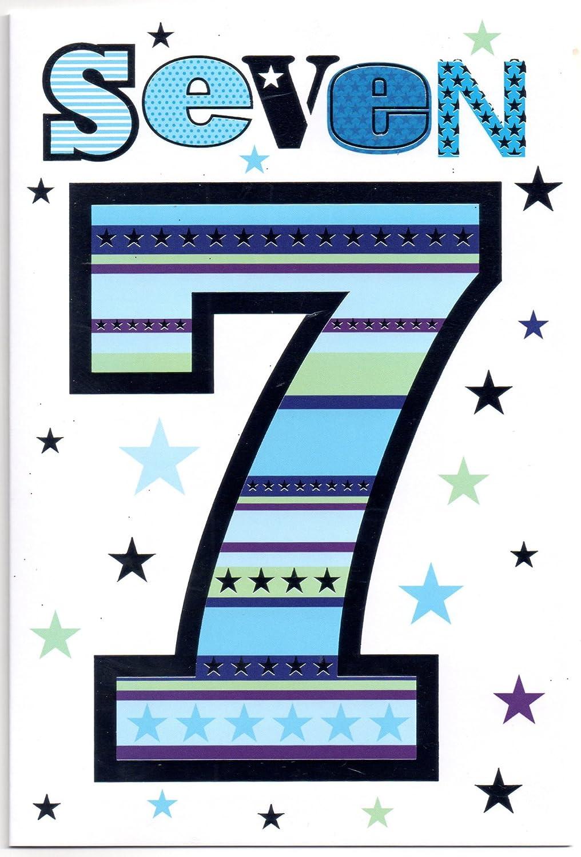 Per bambini di compleanno per sette (7) year old Boy–free 1st Class post (UK) Simon Elvin