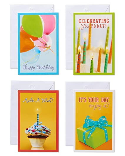 Amazon American Greetings Assorted Photo Happy Birthday Cards