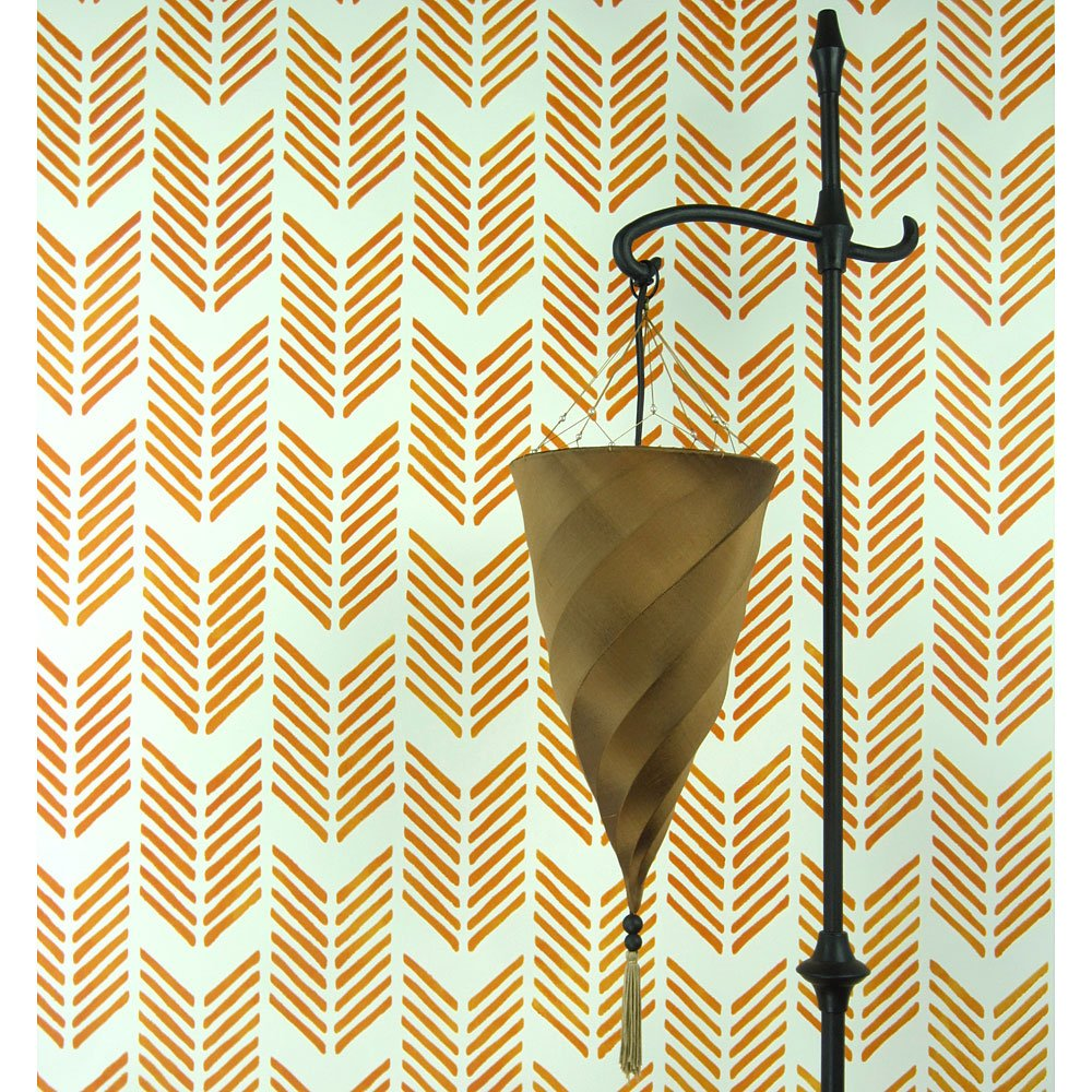 Drifting Arrows Allover Stencil - Large Scale - Reusable stencils for DIY wall decor - Better then wall paper!
