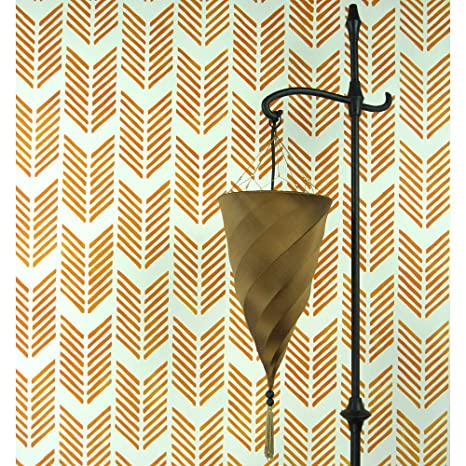 Amazon.com: Drifting Arrows Allover Stencil - Large Scale - Reusable ...