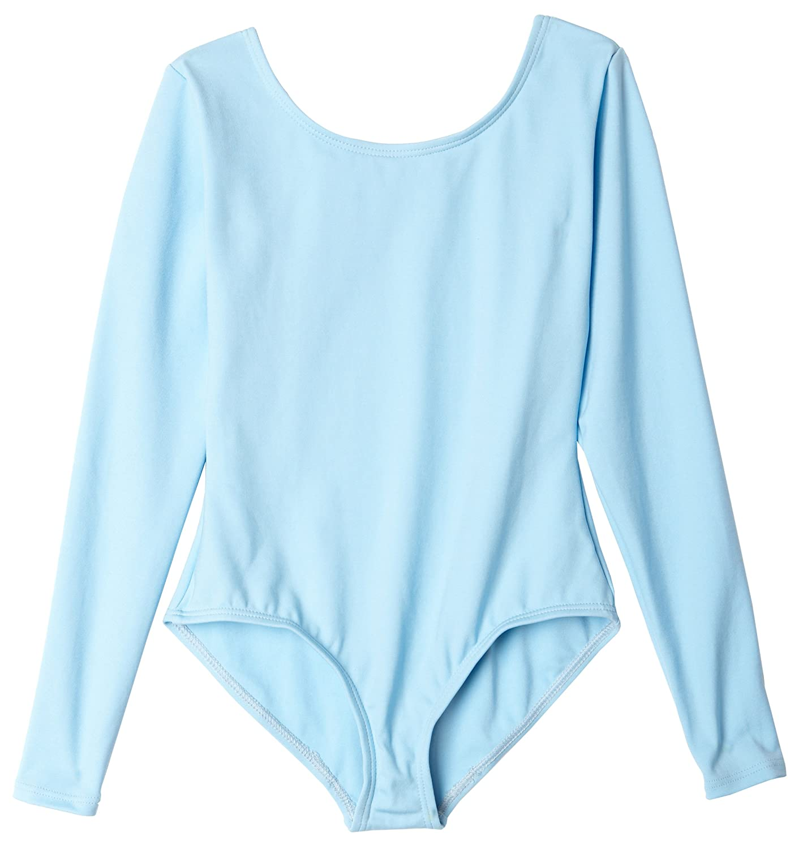 Capezio Girls 'チームBasics長袖レオタード US サイズ: L カラー: ブルー B002R0FGP0