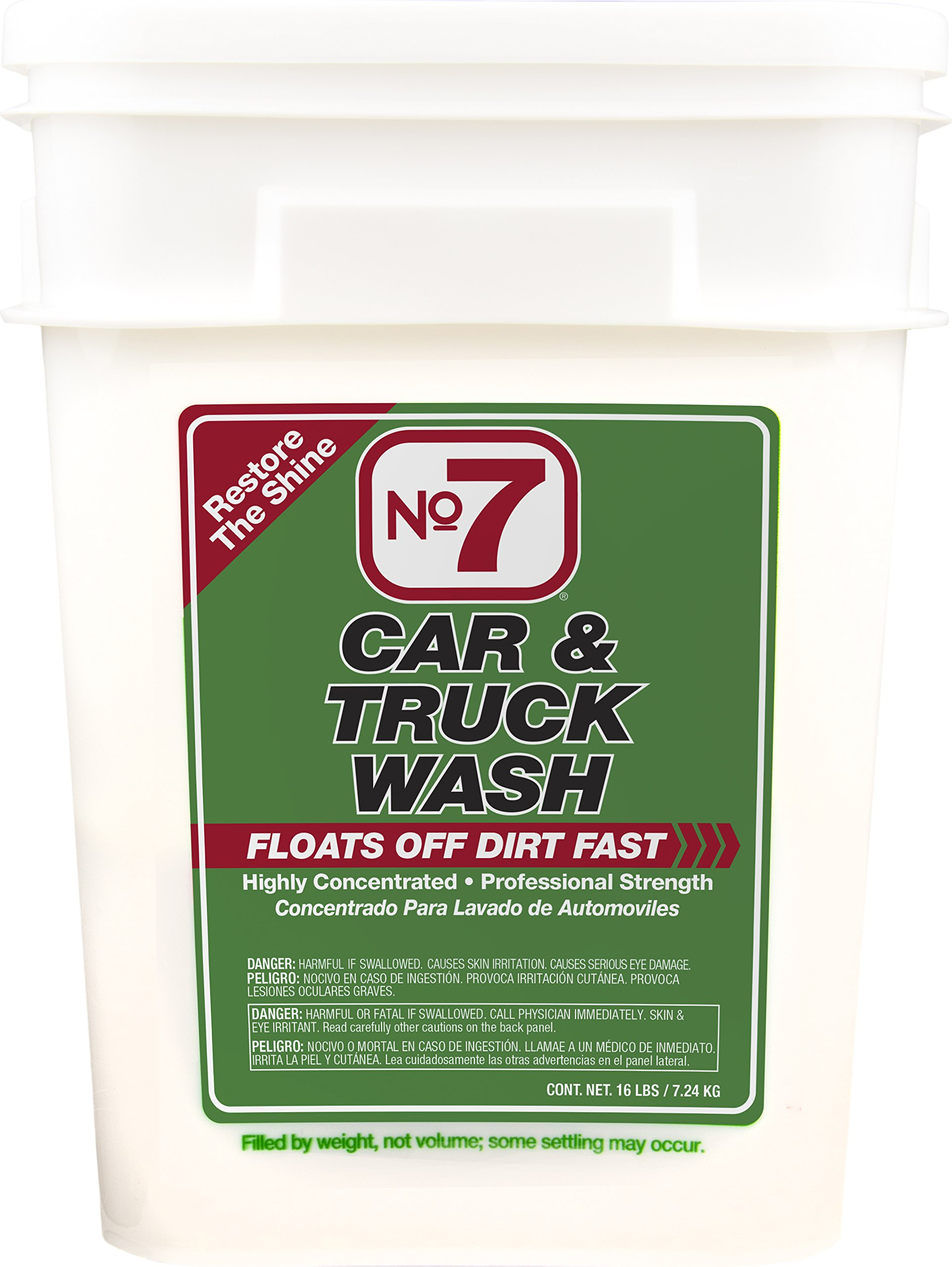 No7 Car & Truck Wash: Concentrated Powder, 16 lb Bucket