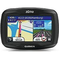 """Garmin zumo 350LM - Navigatore Moto, Impermeabile IPX7, Schermo touch 4.3"""", Mappa Europa Completa con aggiornamento a vita incluso, Uscita audio Bluetooth, Staffe e cablaggi auto e moto inclusi"""