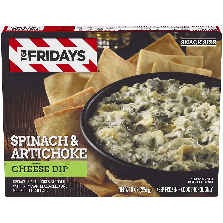 TGI Fridays Spinach & Artichoke Cheese Dip, Frozen Appetizer, 8 oz Box